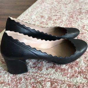 CHLOE LAUREN PUMPS - 37.5 / 7.5 - black leather